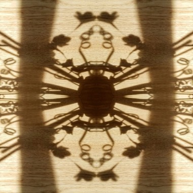organic shadows in a pattern shadow play symmetrical