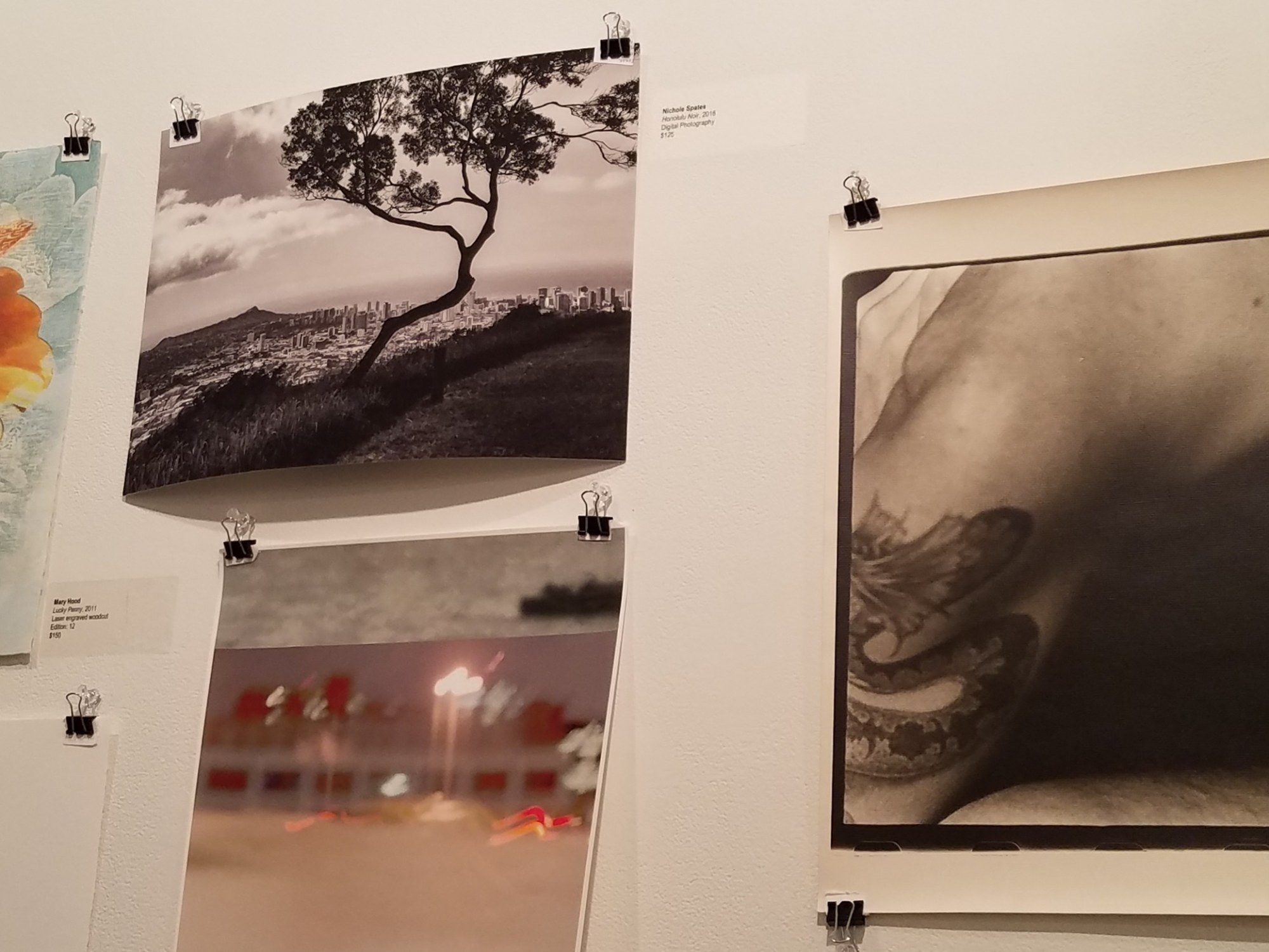 Honolulu Noir shown at Planthouse Gallery Charity Art Sale, January 2019 photo by LensMomentsNS - Nichole Spates