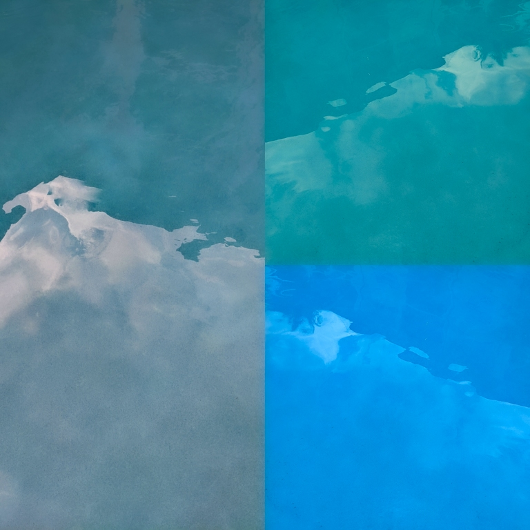 Pool Water and Sky 2, a digital photo collage by LensMoments - Nichole Spates 2020
